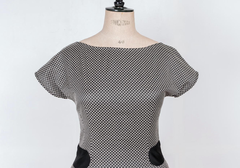 50's femme fatale pin up mid century dress