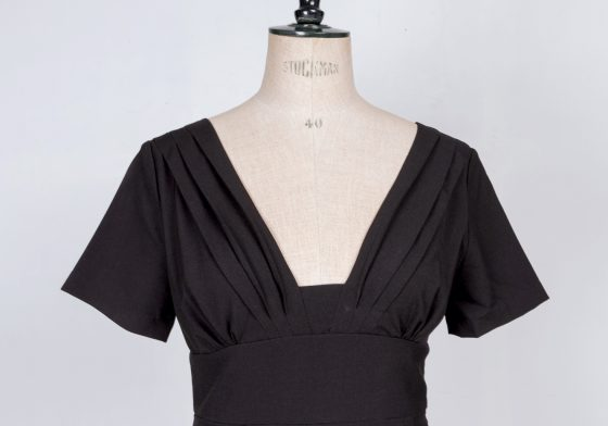 30's flapper Louise brooks little black dress