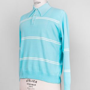 50's 60's mod ivy league jazz knit shirt