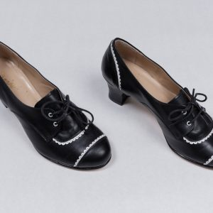 20's 30's swing flapper two-tone Louise brooks shoes