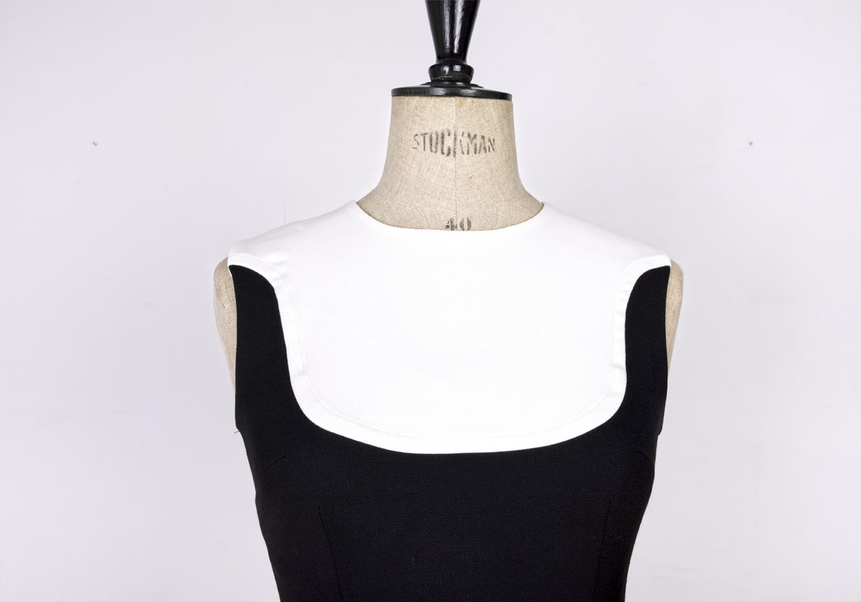 Black and white 60's mod dress