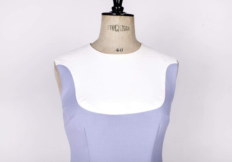 Blue and white 60's mod dress