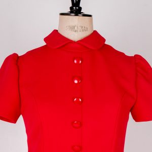 Red 60's mod dress