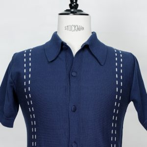 50's 60's rockabilly mod ivy league cool jazz be bop knit shirt