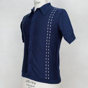 50's 60's rockabilly mod ivy league cool jazz be bop knit shirt